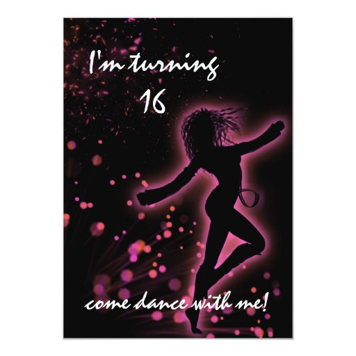 Dance With Me Retro Sweet 16 Card