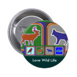 Dance with the Wolf - Wild Life Series Pinback Button