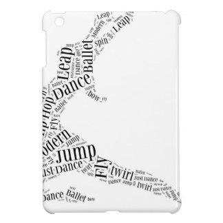 Dance Word Cloud Black & White Cover For The iPad Mini