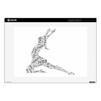 Dance Word Cloud Black & White Skin For Laptop