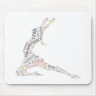 Dance Word Cloud Mouse Pad
