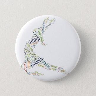 Dance Word Cloud Pinback Button