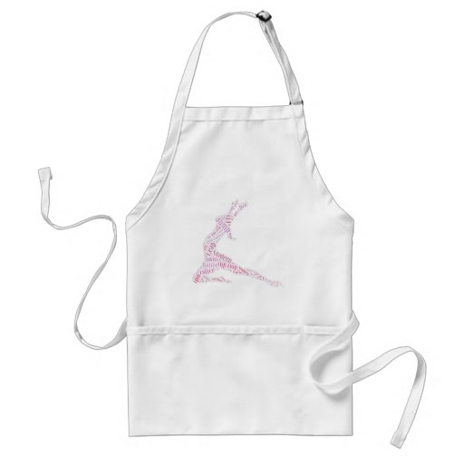 Dance Word Cloud Pink Apron