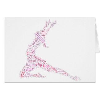 Dance Word Cloud Pink Greeting Card