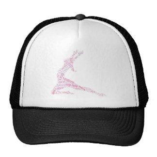 Dance Word Cloud Pink Trucker Hat
