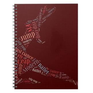 Dance Word Cloud Rose Notebooks