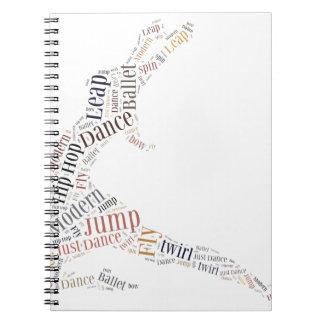 Dance Word Cloud Spiral Notebook