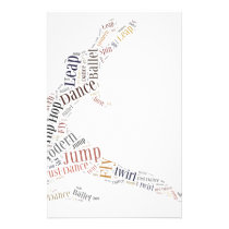 Dance Word Cloud Stationery