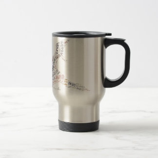 Dance Word Cloud Travel Mug