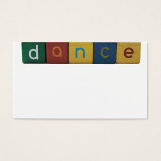 dance word in blocks business card