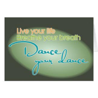 Dance Your Dance Card