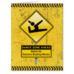 Dance Zone Ahead-Watch for Dancers Busting Moves! Large Greeting Card