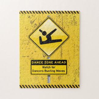 Dance Zone Ahead-Watch for Dancers Busting Moves! Jigsaw Puzzles