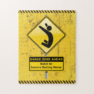 Dance Zone Ahead-Watch for Dancers Busting Moves! Jigsaw Puzzle