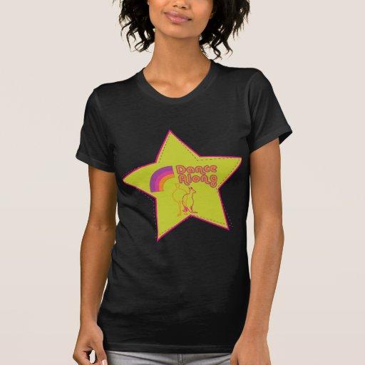 dancealong_5ptstar_ladies_blackt camiseta