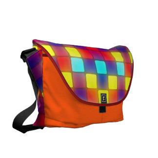 Dancefloor retro colorido bolsa messenger