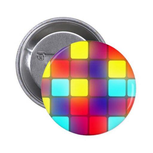 Dancefloor retro colorido pins