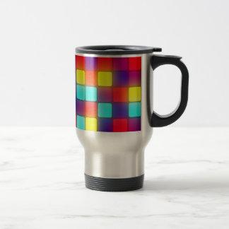 Dancefloor retro colorido taza de viaje de acero inoxidable