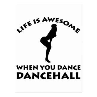 Dancehall dance Designs Post Cards