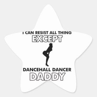 Dancehall dance Designs Star Sticker