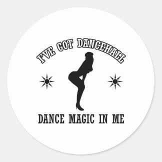 Dancehall dance Designs Classic Round Sticker