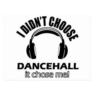 dancehall designs postcard