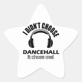 dancehall designs star sticker