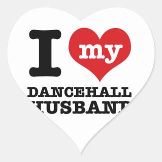 Dancehall Husband Heart Sticker