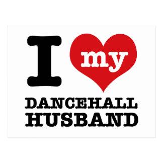 Dancehall Husband Postcard