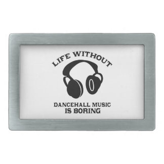 Dancehall Music designs Rectangular Belt Buckle