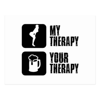 dancehall my therapy postcard