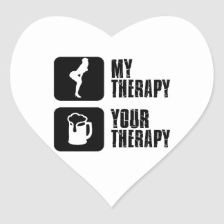dancehall my therapy heart sticker