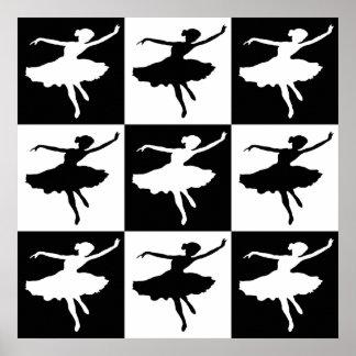 Dancer1 Checkered Canvas Print