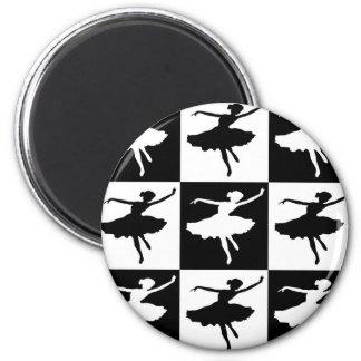 Dancer1 Checkered Magnet