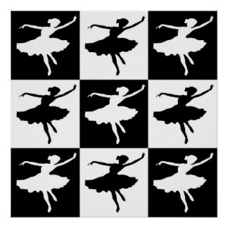 Dancer1 Checkered Poster