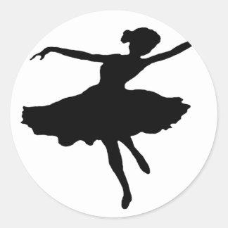 Dancer1 Classic Round Sticker
