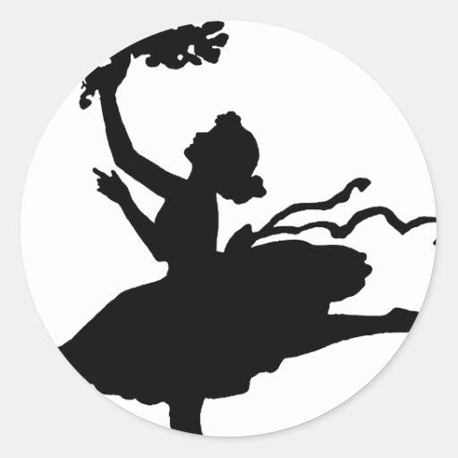 Dancer2 Pegatina Redonda