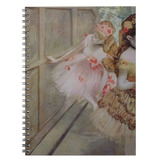 Dancer against a stage flat, c.1880 (tempera & pas spiral note book