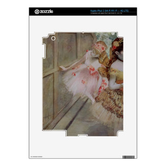 Dancer against a stage flat, c.1880 (tempera & pas iPad 3 skin
