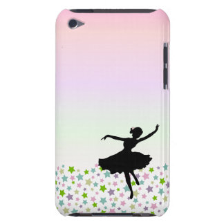 Dancer amongst the stars at pink sunset iPod Case-Mate case