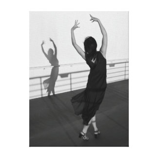 Dancer and shadow canvas print