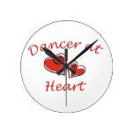 Dancer at Heart Round Wall Clocks