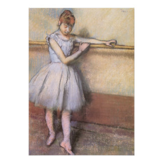 Dancer at the Bar by Edgar Degas, Vintage Ballet Poster