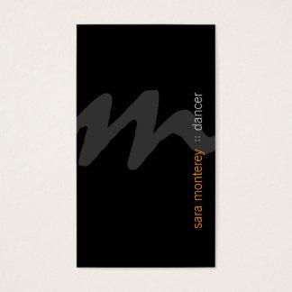 Dancer Bold Script Monogram Business Card