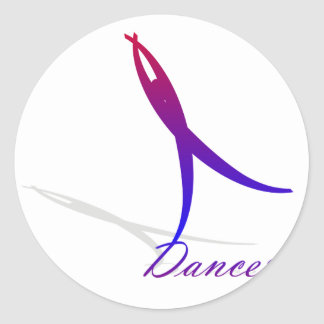 Dancer Classic Round Sticker