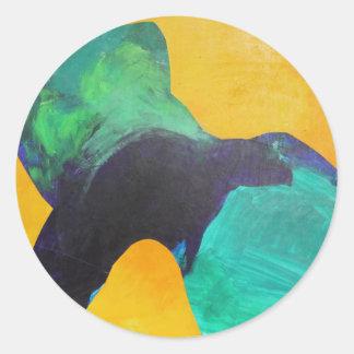 Dancer. Classic Round Sticker