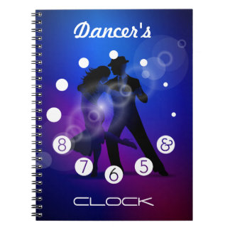 Dancer clock with numbers for a Dancer's. Notebook