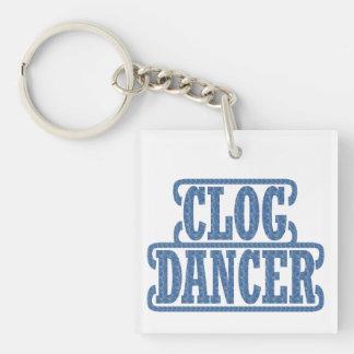 Dancer Clogging Dancers Swirls Clog Blue Keychain