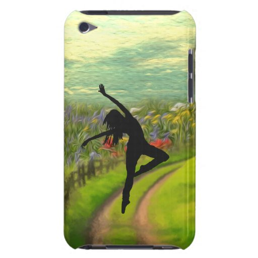 Dancer Dancing Near Field of Flowers Case-Mate iPod Touch Case