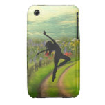 Dancer Dancing Near Field of Flowers iPhone 3 Case
